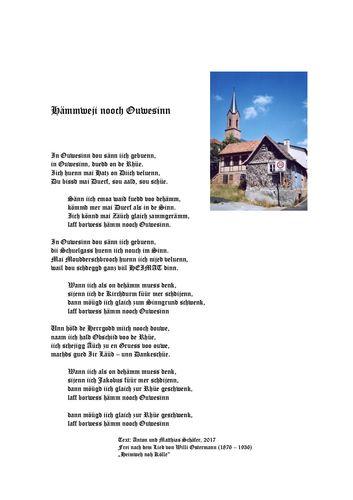 Hämmweji nooch Ouwesinn