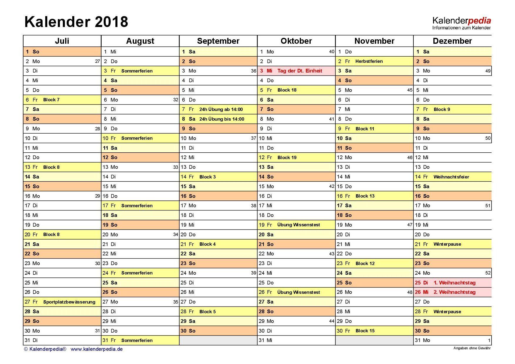 Kalender Ausbildung Jugendwehr2