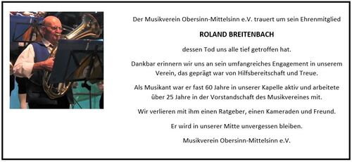 Nachruf Breitenbach